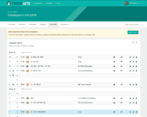Training schedules: An easy interface to create training schedules which team members see in their dashboard. Rowers and coaches can enter their attendance for each training with just one click.